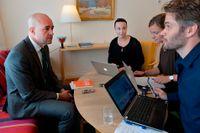 Fredrik Reinfeldt frågas ut av SvD.
