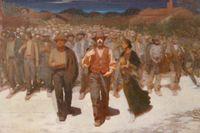 """""""Fiumana"""" av Guiseppe Pellizza da Volpedo, 1898."""