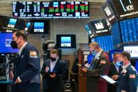 Markant minskning av så kallade spac-affärer på New York-börsen i april och maj. Arkivbild.