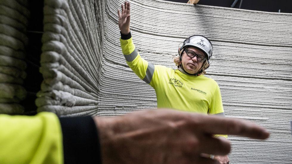 Svensk debut för 3D-printat hus tack vare Tobias von Haslingen och hans kollegor.