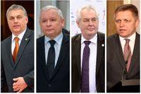 Europeiska ledare som tummar på demokratin: Viktor Orbán (Ungern), Jarosław Kaczyński (Polen), Miloš Zeman (Tjecken) och Robert Fico (Slovakien).