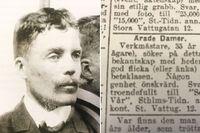 Karl Vesterberg och hans klassiska annons – läs den i sin helhet längre ner i artikeln.