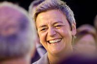 Danska Margrethe Vestager är en av sju toppkandidater från liberala partigruppen Alde – som nu döpt om sig till Förnya Europa, RE.
