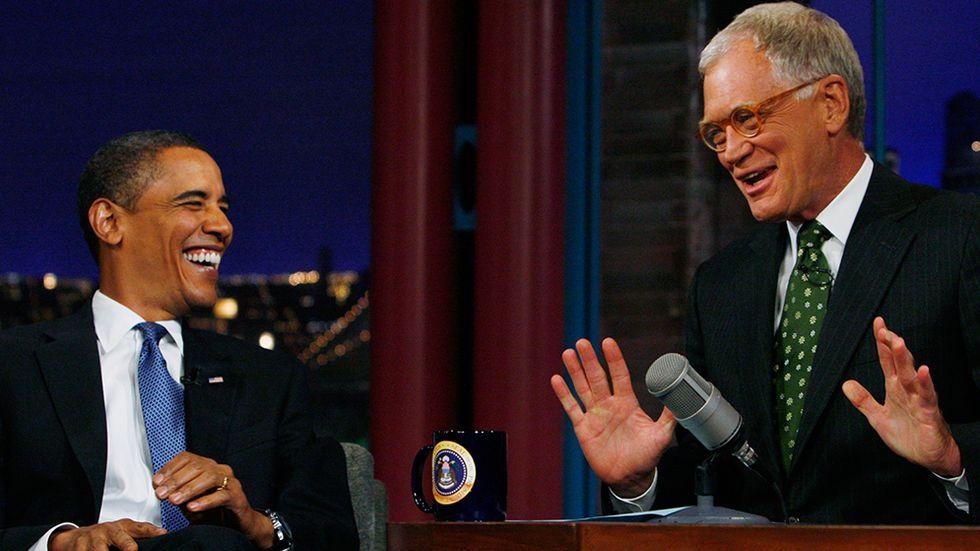 "Barack Obama i ""Late Show with David Letterman"" 2009."