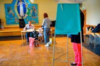 Valförrättning i Brännkyrka kyrka i Stockholm på söndagen.