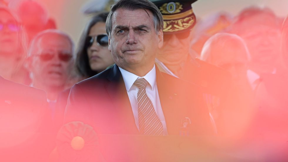 Jair Bolsonaro, som efter att ha överlevt knivdådet blev vald till Brasiliens president.