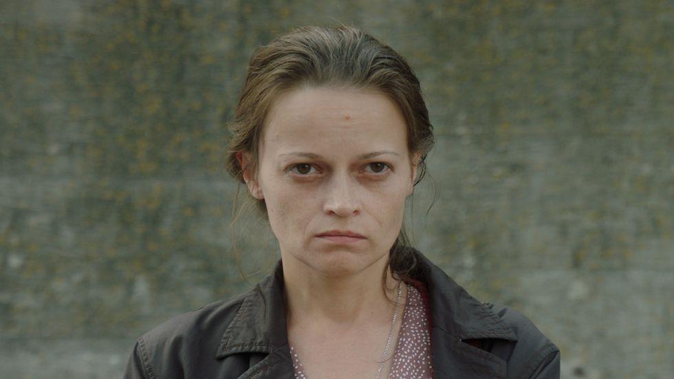 """Vasilina Makovtseva som den ödmjuka huvudpersonen i """"Den ödmjuka""""."""