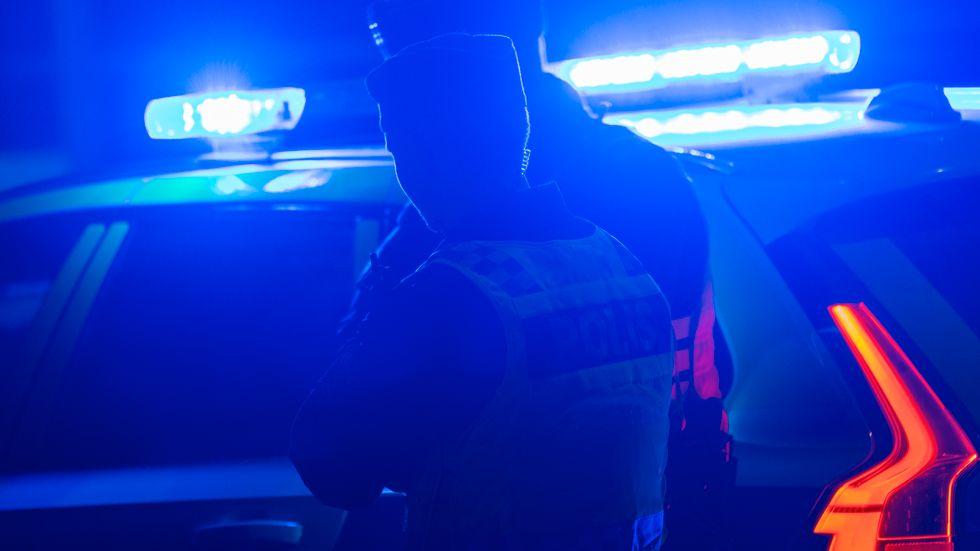Polisen genomför en insats i Västerås. Arkivbild.