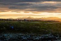Kalvmärkningshagen i Boarkka, Padjelanta nationalpark, kl. 23:20