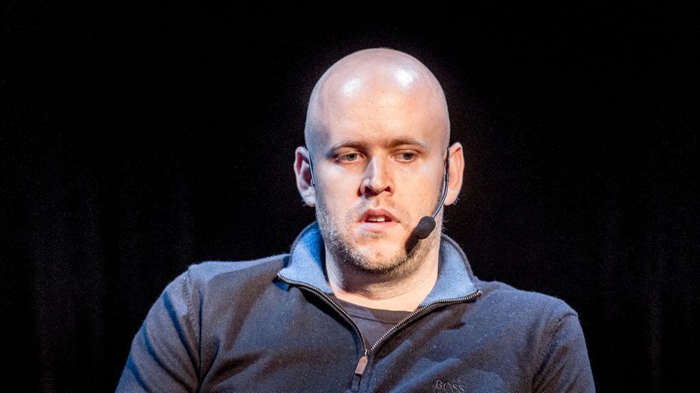 Daniel Ek, grundare av Spotify, säger att han ångrar att han rullade ut en antihat-policy för snabbt. Arkvibild.