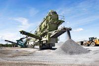 Bergtäkt med tillverkning av anläggningsmaterial iGustavsberg.
