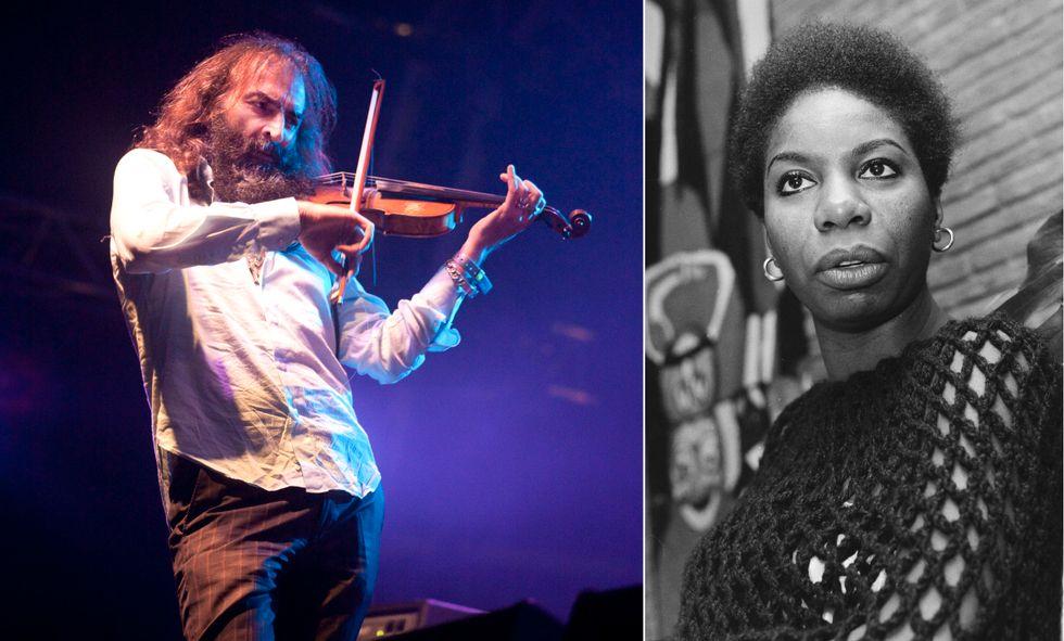 Warren Ellis (tv) tog med sig ett tuggat tuggummi som Nina Simone lämnat efter sig på sin flygel.
