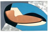 "Alexander Archipenko, ""Torso"", collage, 1954."