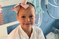 Åttaåriga Isabelle är snart frisk från sin leukemi.