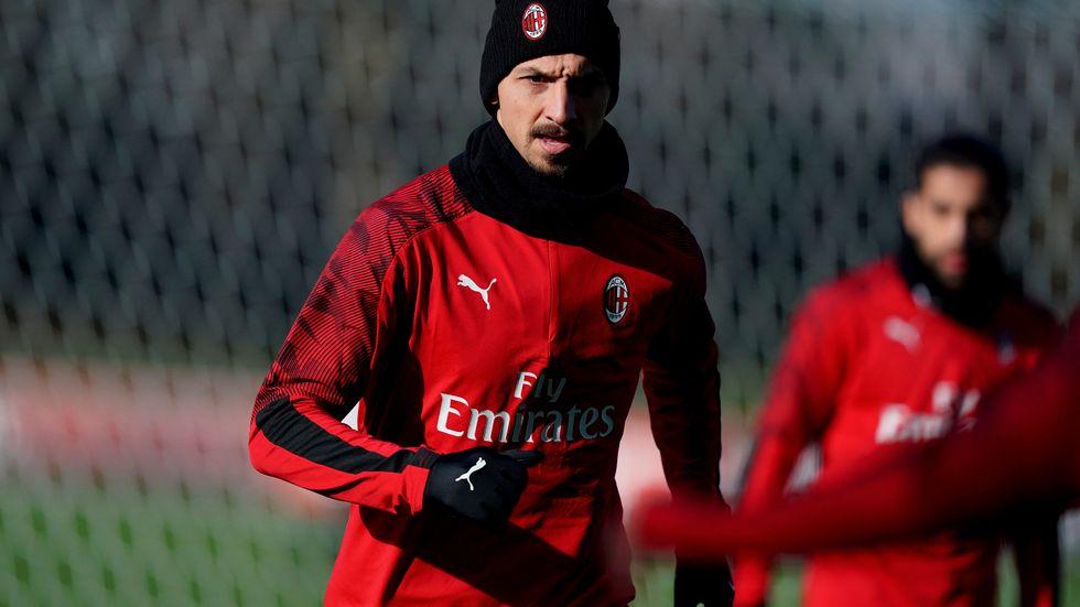 Zlatan Ibrahimovic finns med i Milans matchtrupp mot Sampdoria.