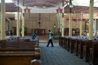 En katolsk kyrka i Port-au-Prince, Haiti.