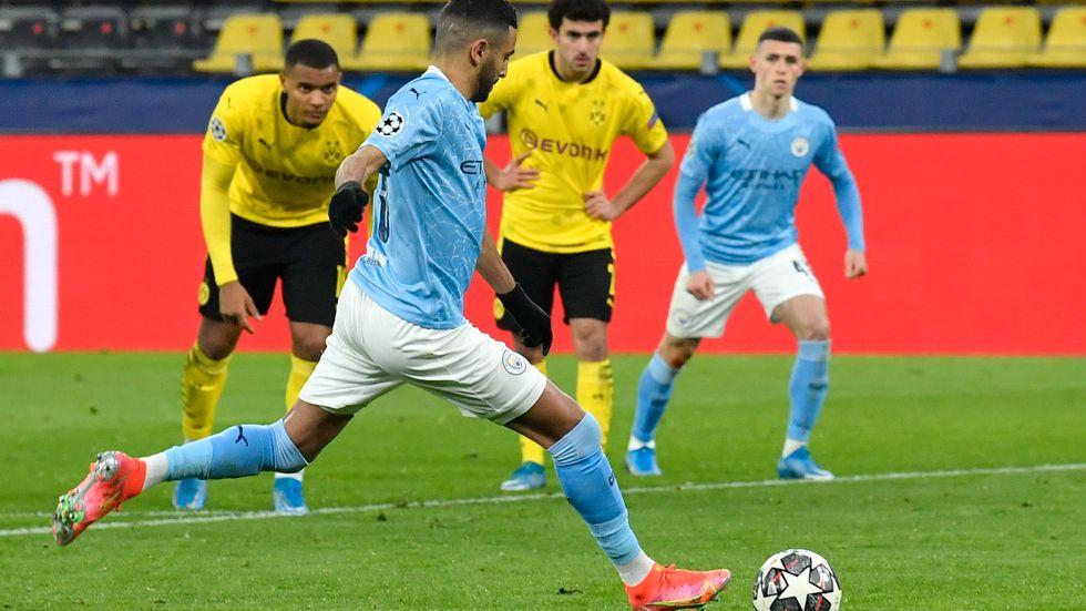 Klubbarna i Champions League har dubblerat inkomsterna på fem år. Här Manchester City och Dortmund i förra veckans möte i veckans Champions League-kvartsfinal.