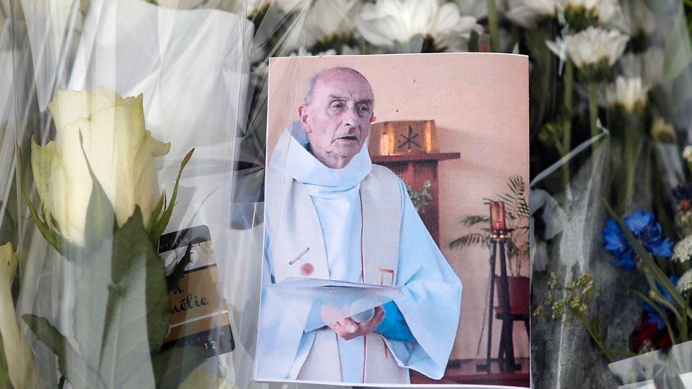 Fader Jaques Hamel, 86, mördades i ett terrordåd i onsdags.