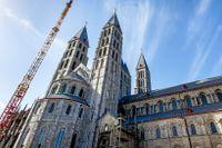Katedralen i Tournai, Belgien, som för 20 år sedan skadades svårt av en tornado.