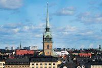 Tyska kyrkan i Gamla stan i Stockholm byggdes först 1642 men står på platsen för Sankta Gertruds gillestuga stadens tyska borgare hade träffats sedan medeltiden.