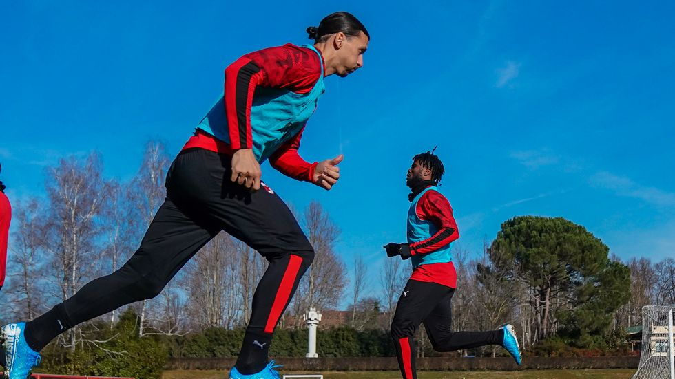 Spelar Zlatan Ibrahimovic från start mot Cagliari? Arkivbild.
