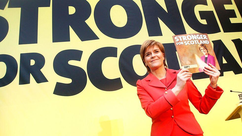 Nicola Sturgeon, partiledare för skotska SNP.