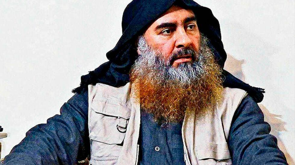 Arkivbild av IS-ledaren Abu Bakr al-Baghdadi som dog under ett USA-anfall i slutet av oktober.