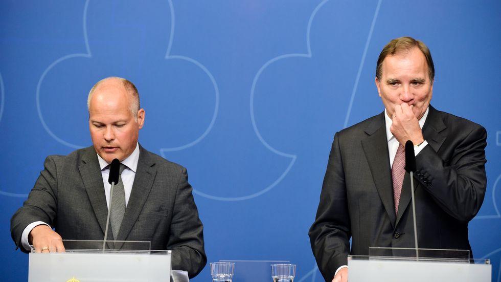 """Morgan """"Det har stått klart för alla"""" Johansson och Stefan """"Det är oacceptabelt"""" Löfven."""