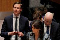 Jared Kushner under ett möte i FN.
