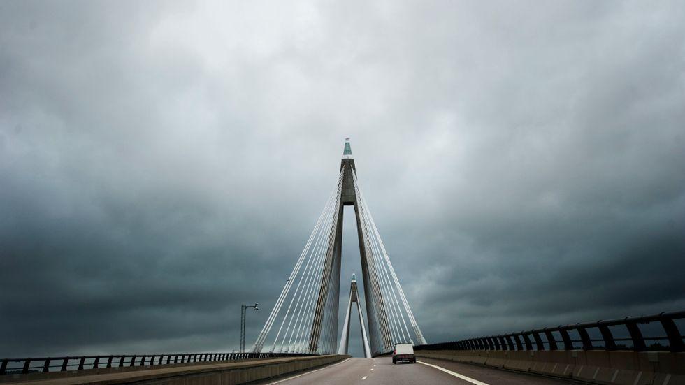 Uddevallabron stängs för underhåll i helgen. Arkivbild.