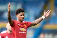 """""""Näthat är lätt att stoppa – det är bara att stänga ned kontona"""", sade Manchester Uniteds Marcus Rashford till Sky Sports News i vintras. Arkivbild."""