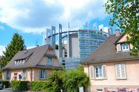 EU-parlamentets lokaler i franska Strasbourg har fått vänta på sina ledamöter under hela våren, då alla möten i stället hållits i Bryssel eller via webben. Arkivbild.