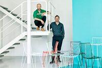 Magnus Elebäcks och Chris Martins möbler har väckt intresse världen över. Deras första stol Tio finns på Nationalmuseum.