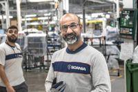 Kastro Hussein var överlycklig över att vara tillbaka på jobbet på Scania.
