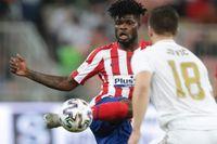Ghananen Thomas Partey lämnar spanska Atlético Madrid för spel i engelska Arsenal. Arkivbild.