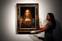 """Leonardo da Vincis """"Salvator Mundi"""" såldes av auktionsfirman Christie's för en rekordsumma. Arkivbild."""