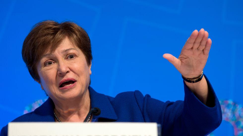 IMF, med chefen Kristalina Georgieva, varnar för ekonomiska bakslag till följd av det nya coronaviruset. Arkivbild