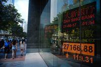 Tokyobörsen backar. Arkivbild.