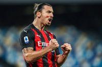 Skytteligaledaren Zlatan Ibrahimovic har gjort tio mål i Serie A den här säsongen.