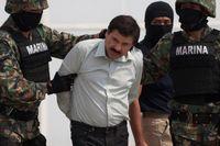 """Joaquín """"El Chapo"""" Guzmán greps 2014 efter 13 år på flykt. 2001 rymde han från högsäkerhetsfängelset Puente Grande i Mexiko i en tvättvagn. Arkivbild."""