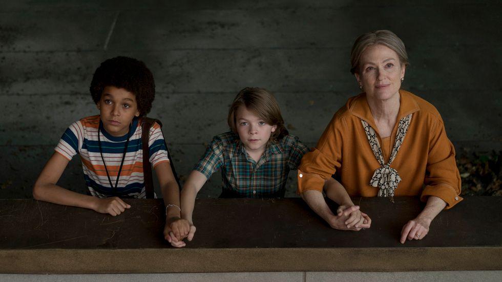 Jaden Michael, Oakes Fegley och Julianne Moore.