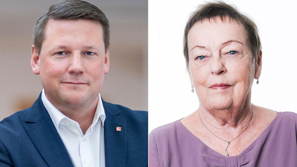 Debattörerna Tobias Baudin och Christina Tallberg.
