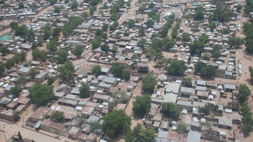 Flyktinglägret Minawao i Kamerun, dit många nigerianer flytt undan Boko Harams terror. Arkivbild.