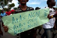 En anti-gay-demonstration i Port-au-Prince i Haiti.