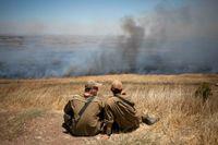 Israeliska soldater på Golanhöjderna 2013. Arkivbild.