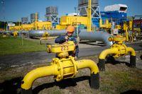 En gasanläggning i västra Ukraina.