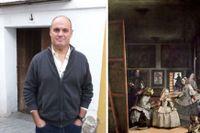 """Enrique Bocanegra och Velázquez målning """"Las Meninas"""" föreställer prinsessan Margarita med tjänstefolk. Här syns konstnären själv – och i en spegel kungaparet."""