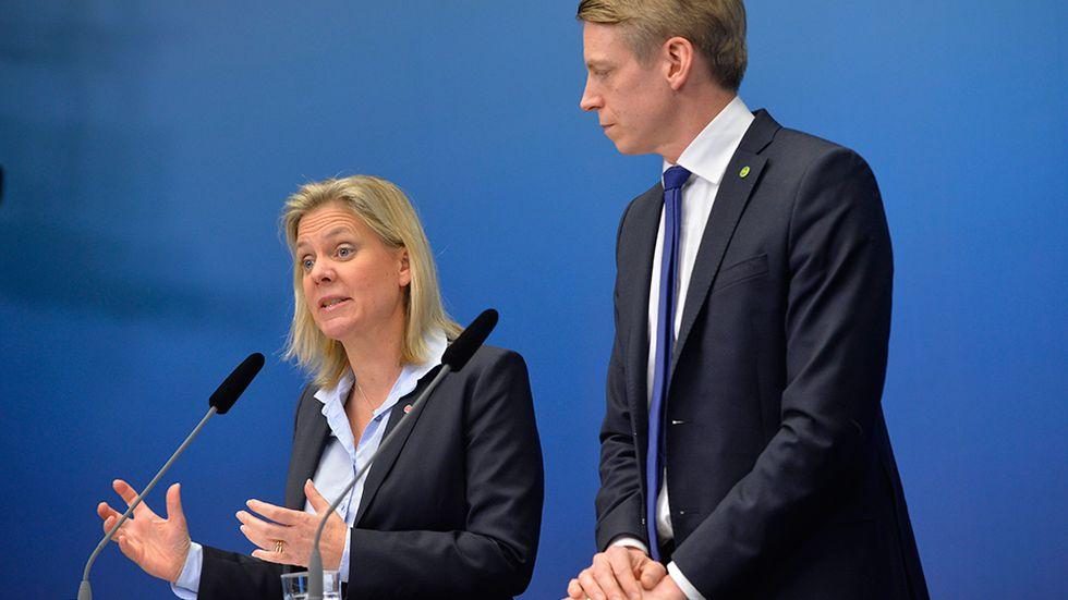 Magdalena Andersson och Per Bolund.