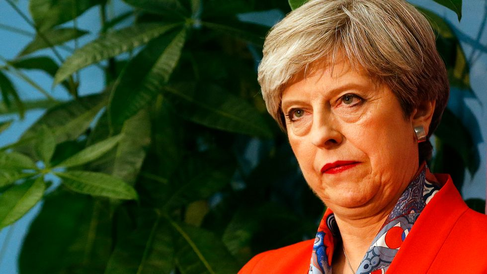 Storbritanniens premiärministerTheresa May. Arkivbild.