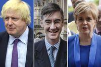 Boris Johnson, Jacob Rees-Mogg och Nicola Sturgeon representerar alla olika grupperingar.